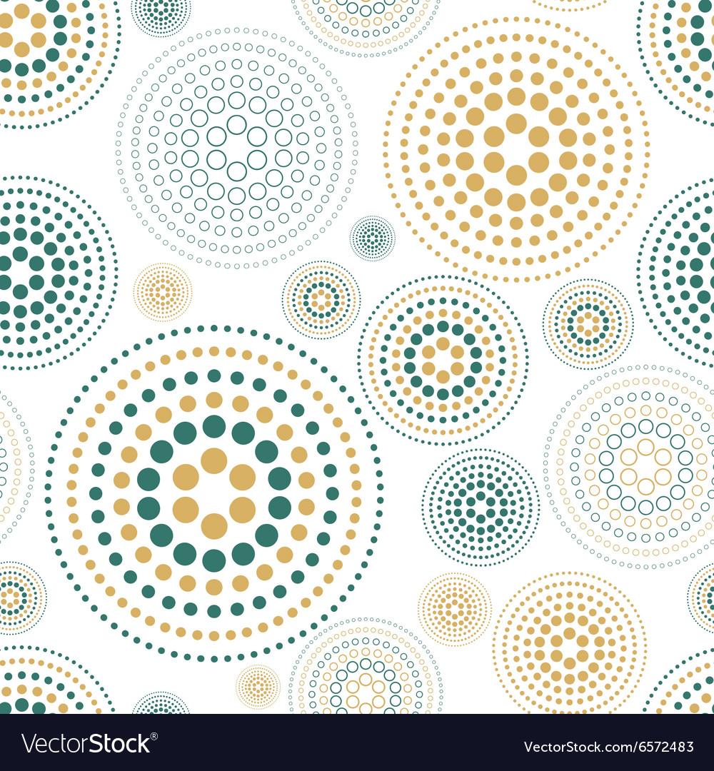 Fabric circles abstract seamless pattern