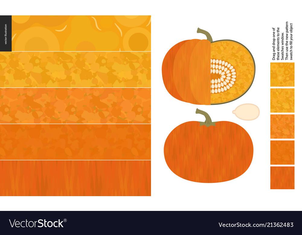 Food patterns vegetable pumpkin