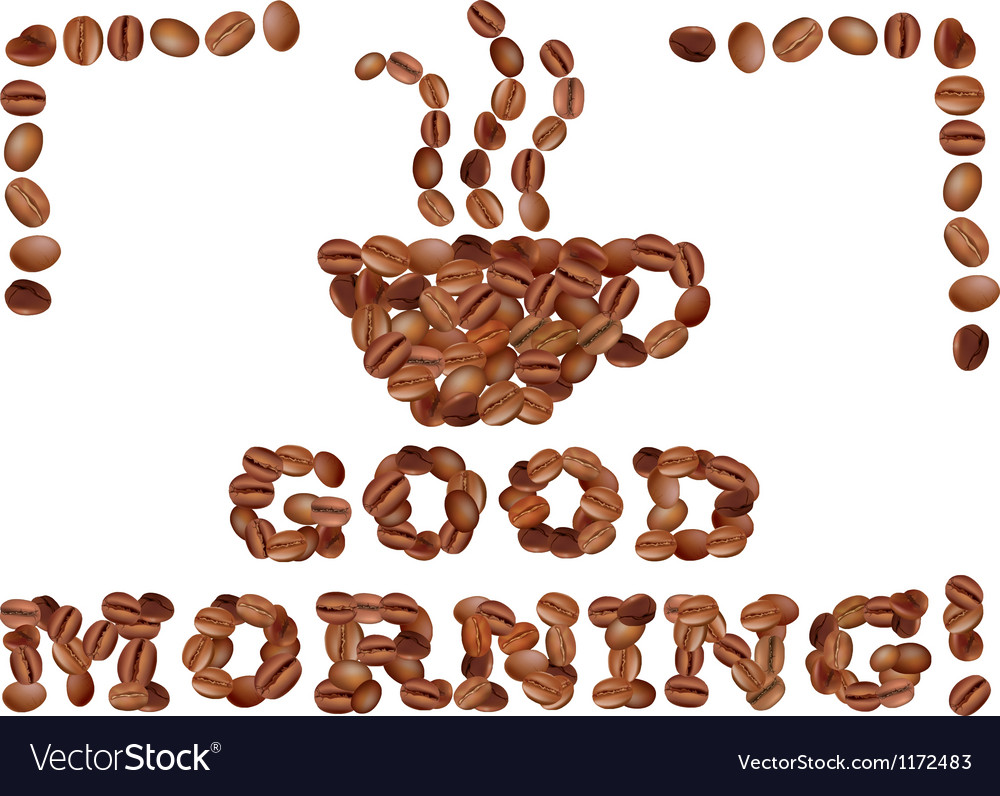 Good morning with coffee vector image