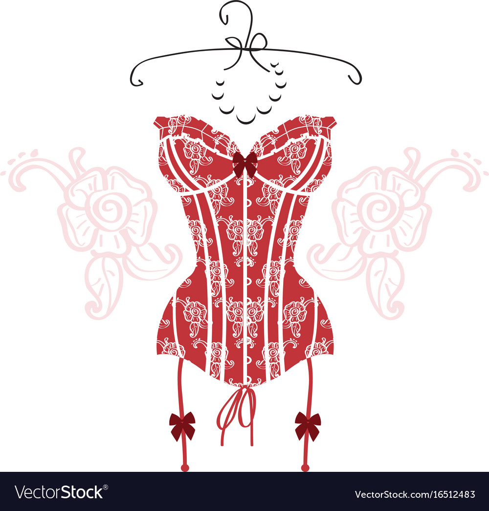 Ladys sexy red vintage corset
