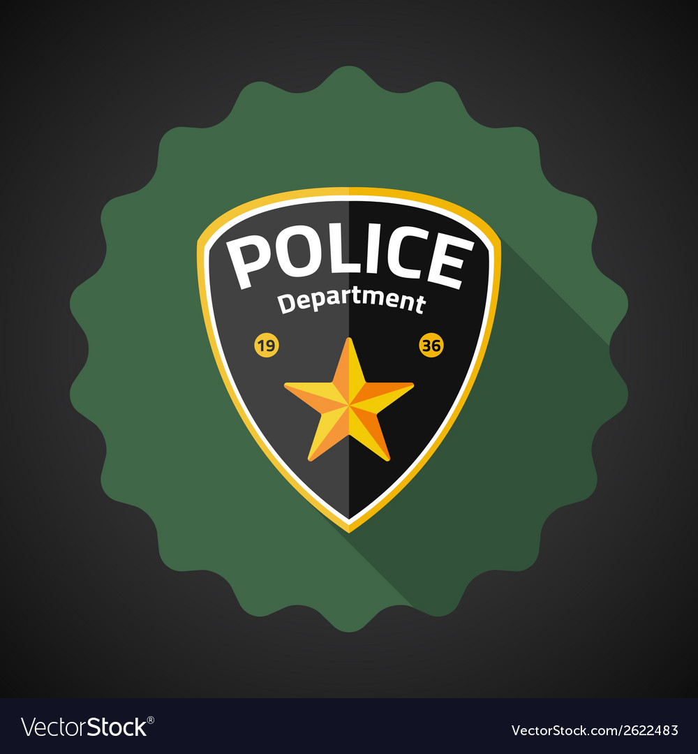 Police Badge Flat icon background