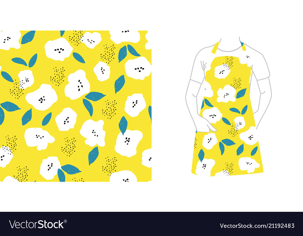 Seamless pattern seeds and flowers