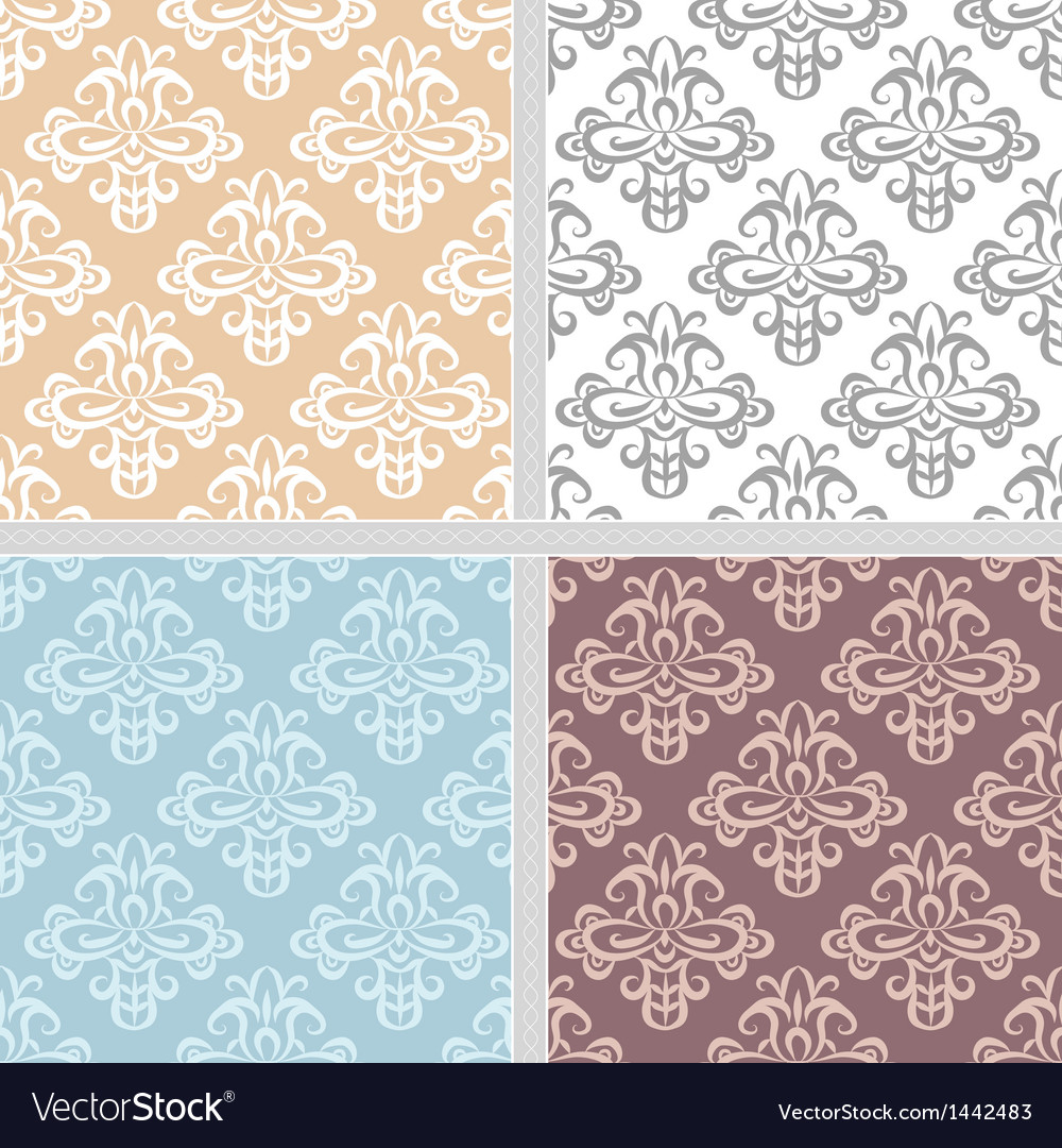 Summer seamless ethnic pattern collection