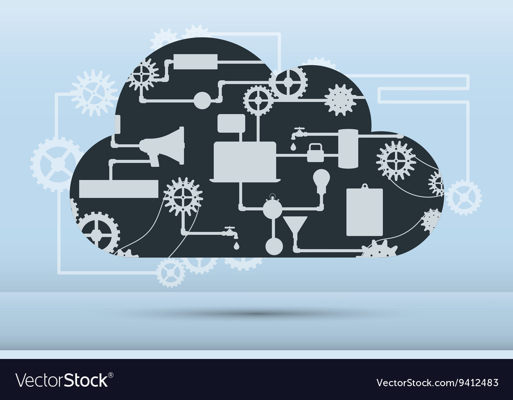 Web and application development flat banner vector image