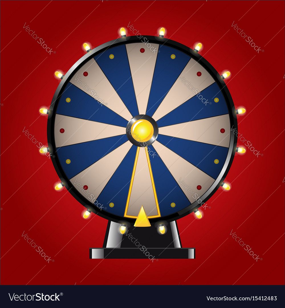 Wheel of fortune - realistic modern image