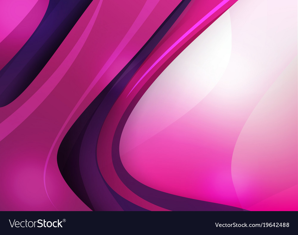 Abstract Background Purple And Pink Curve Vector Image