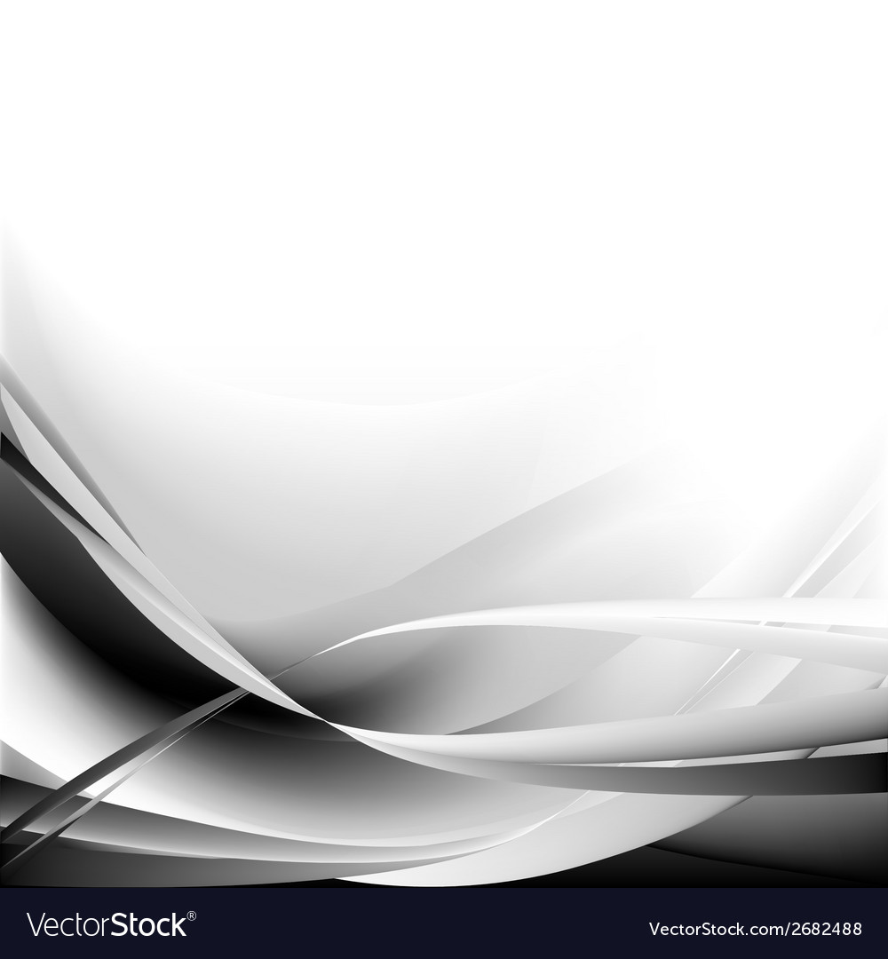 Black and waves abstract background vector image