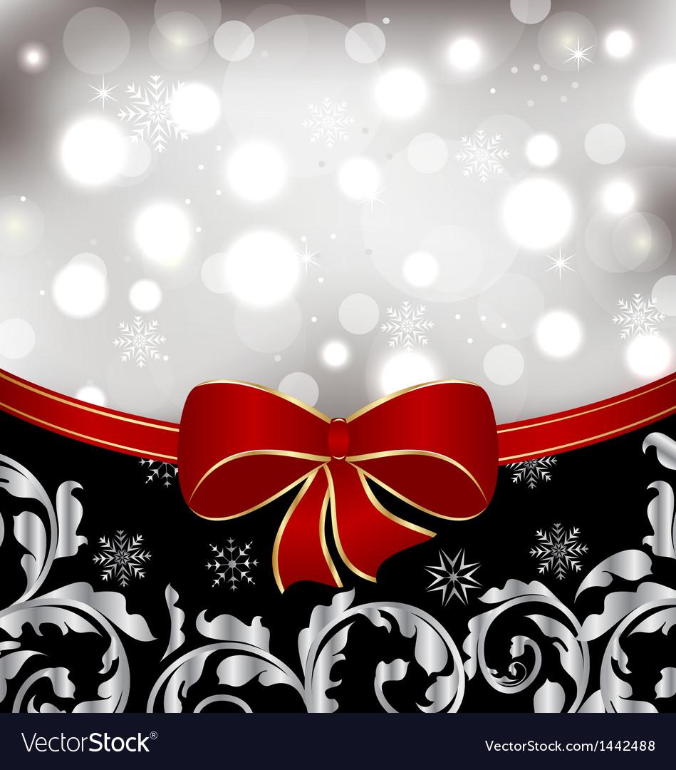 Christmas floral background ornamental design