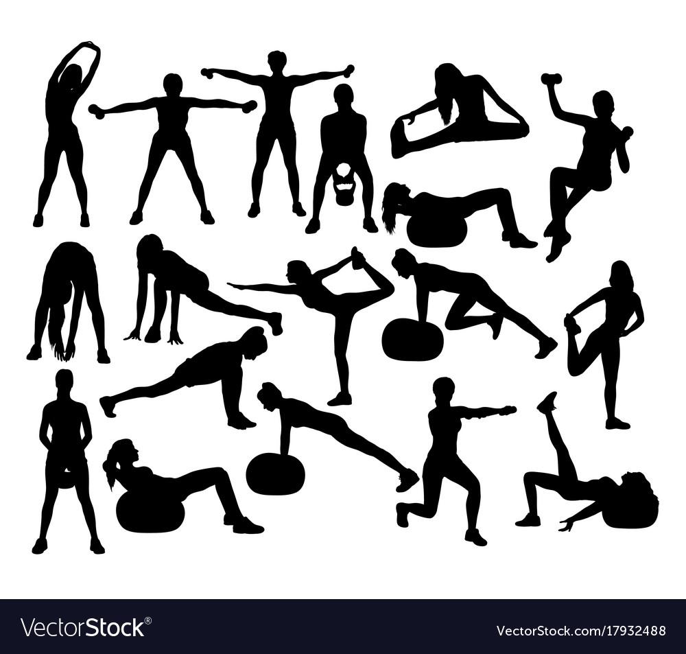 Fitness gym woman