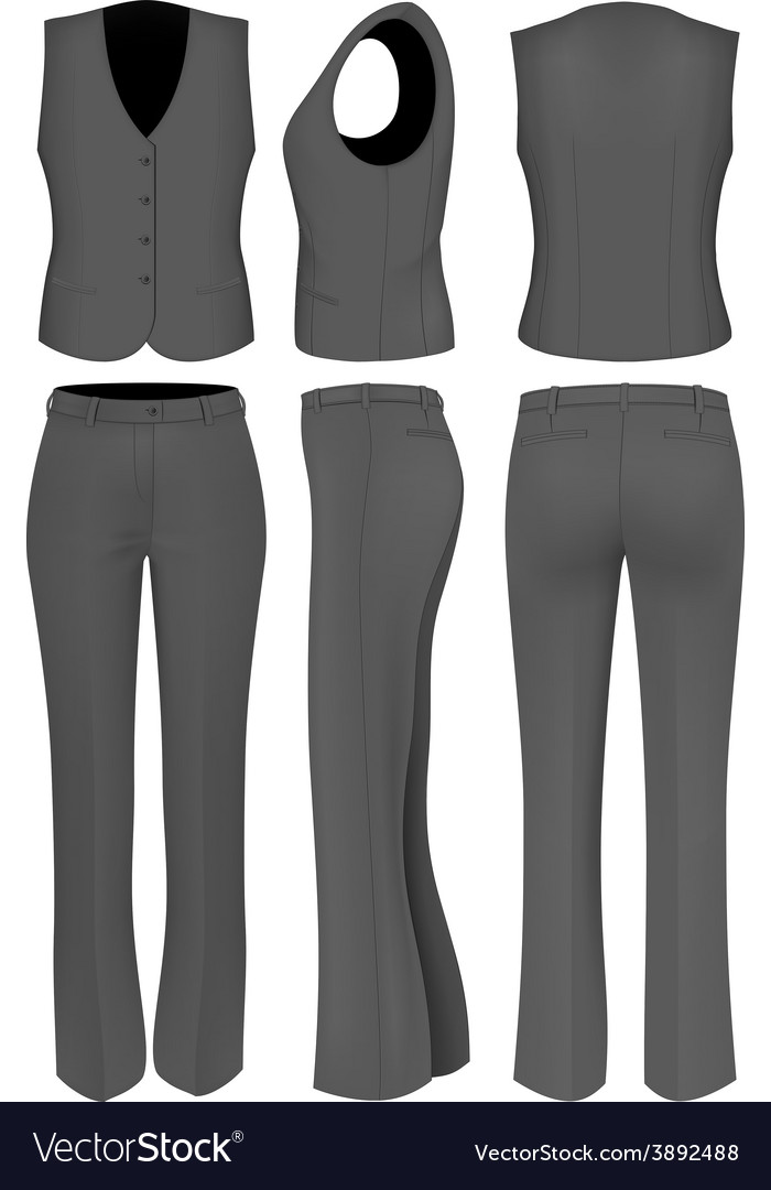 0312d19078 Formal black trousers suit for women Royalty Free Vector