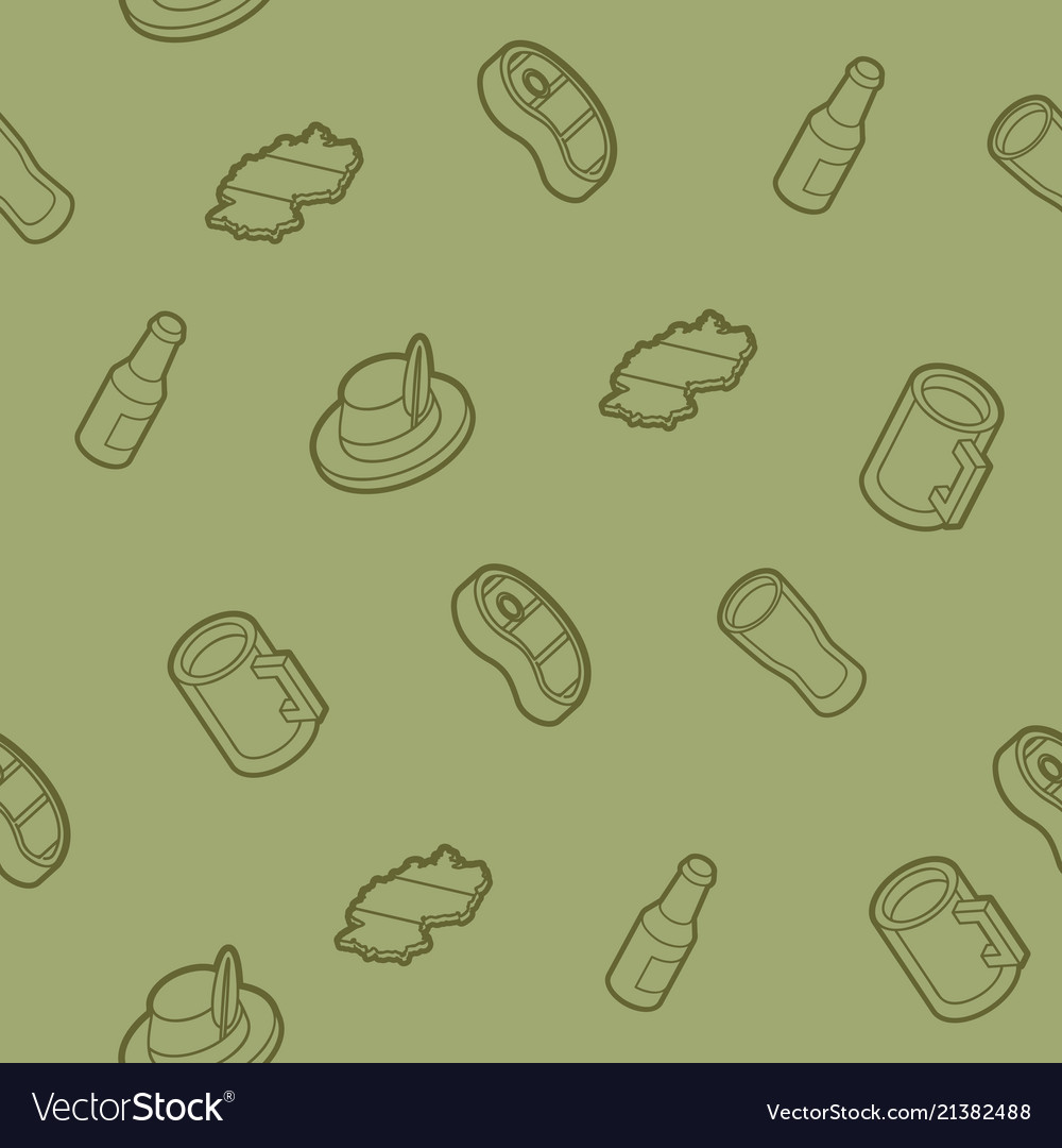 Germany outline isometric pattern