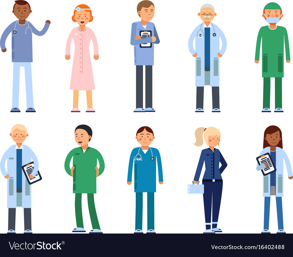Healthcare people in hospital pharmacist doctor
