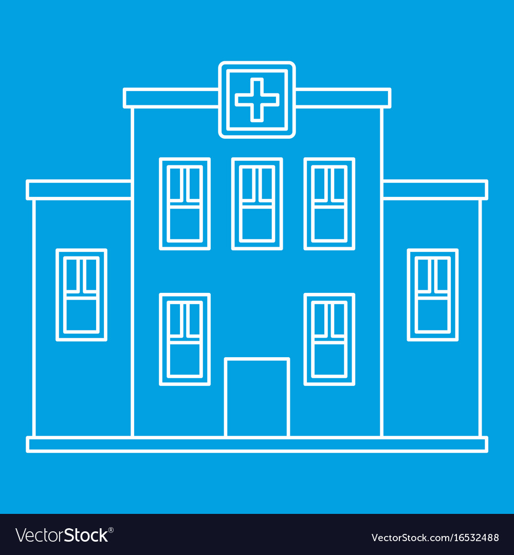 Hospital building icon outline style
