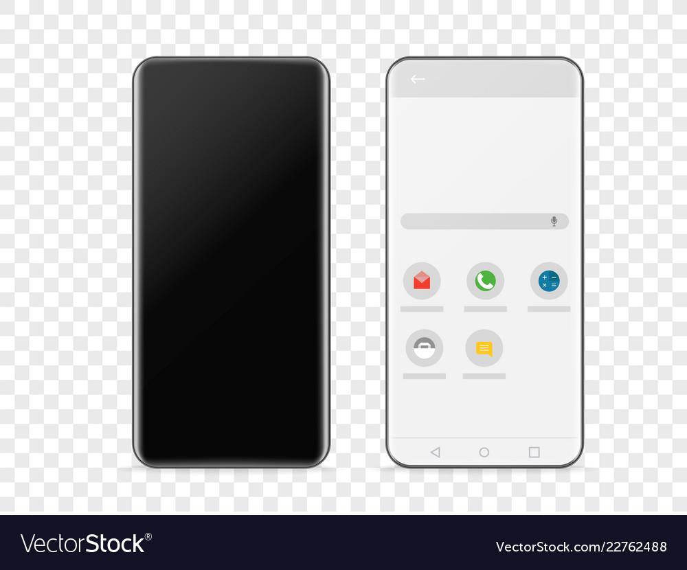 Modern frameless smartphone isolated on