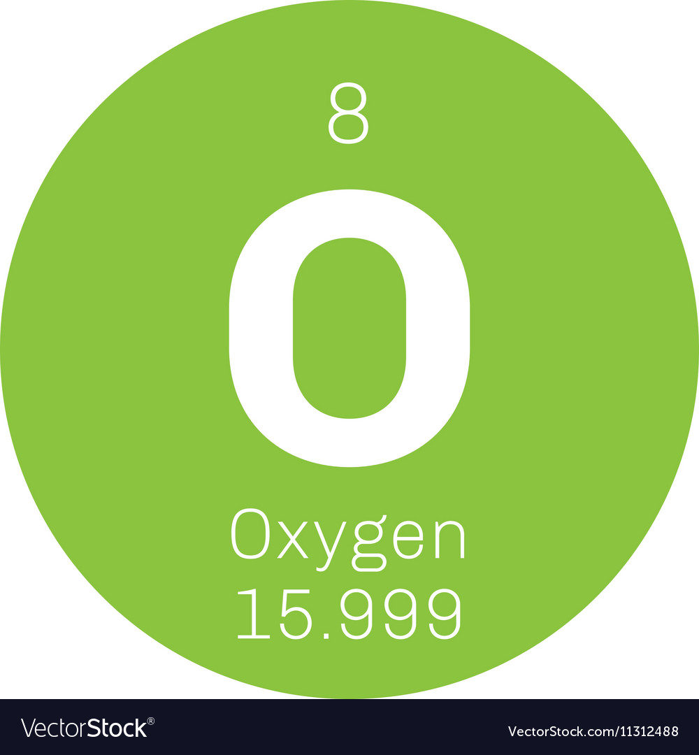 Oxygen Chemical Element Royalty Free Vector Image