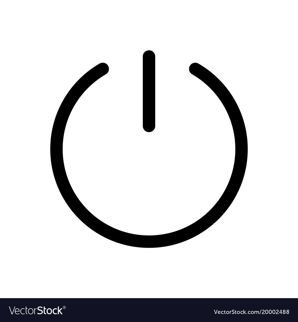 Power Button Icon Symbol Of Start Or Turn On Vector Image