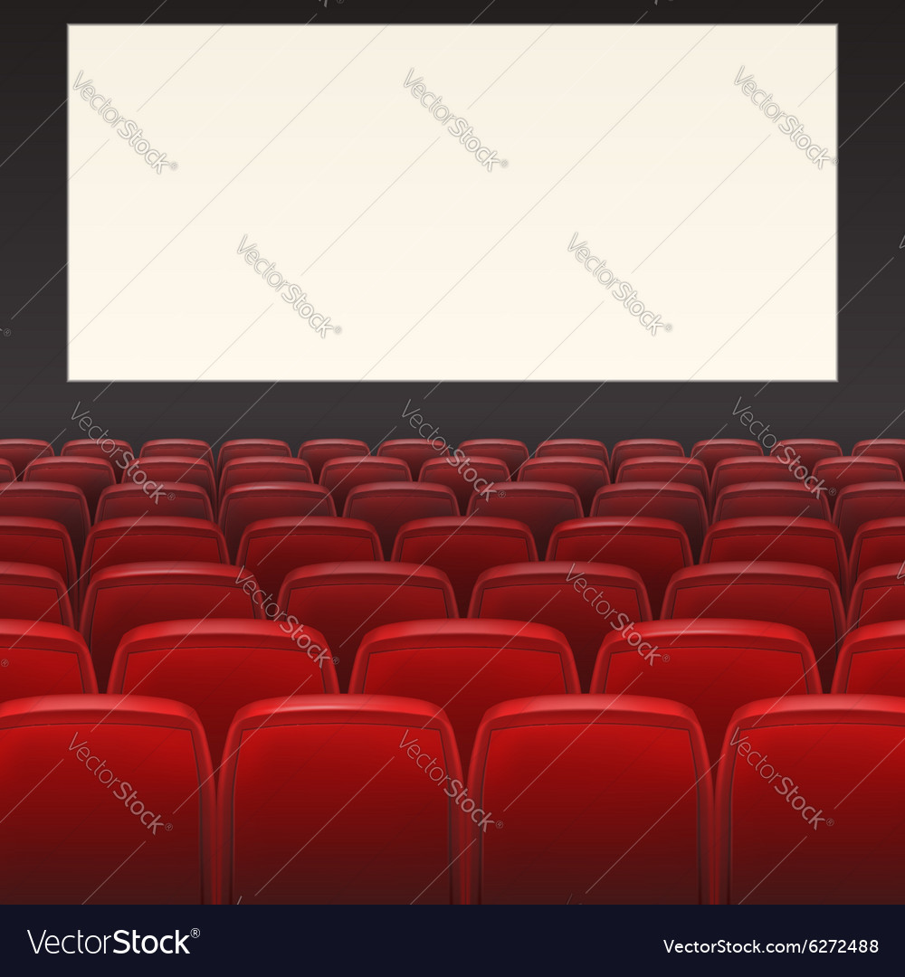 Red seats with blank screen