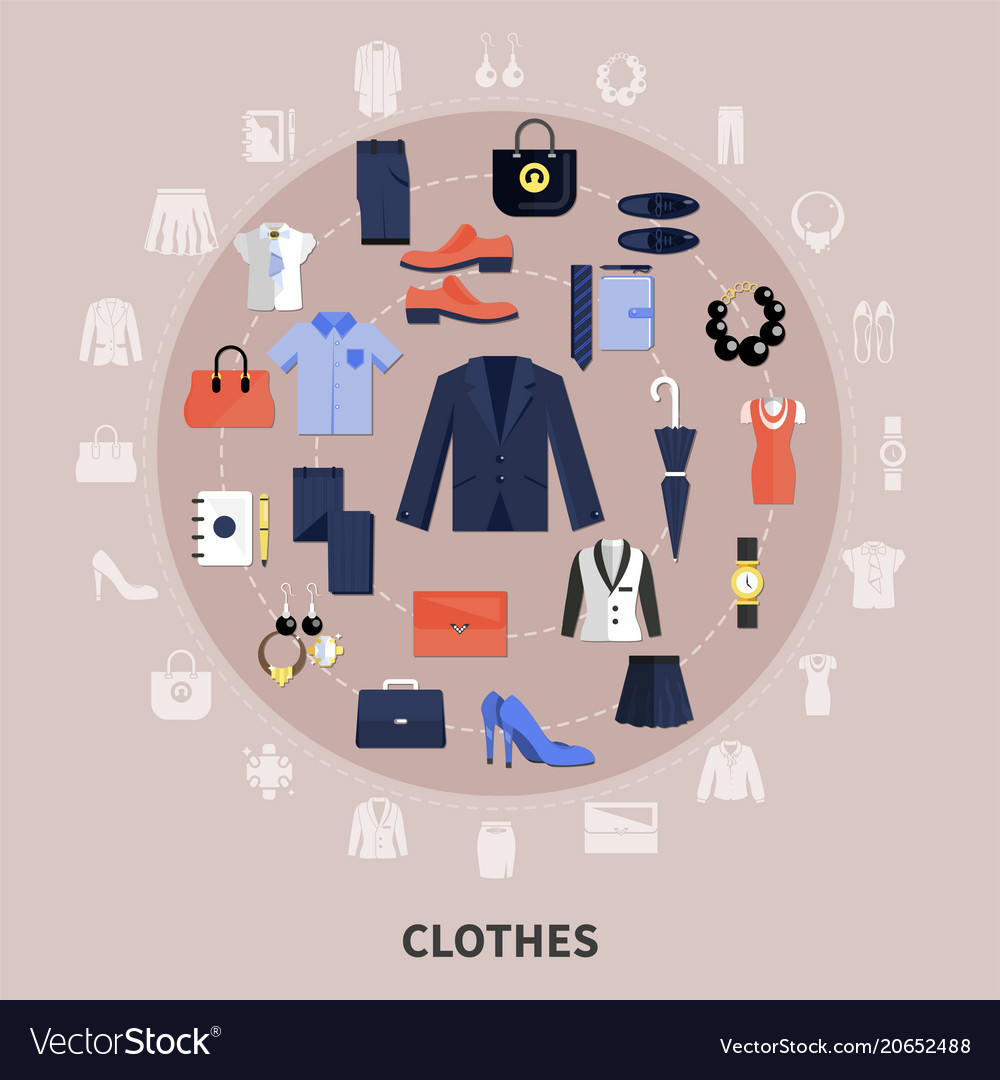 Round clothes composition