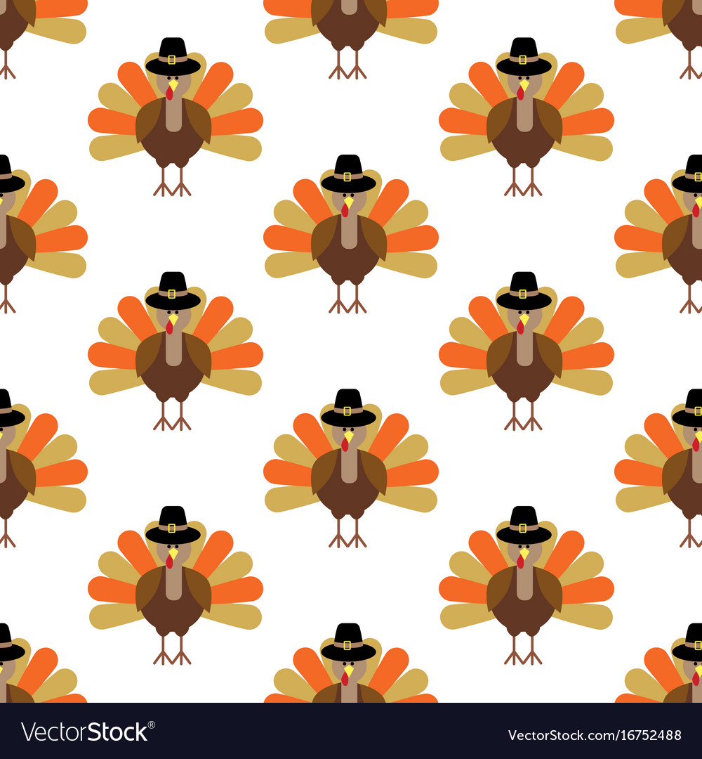 Turkey seamless pattern