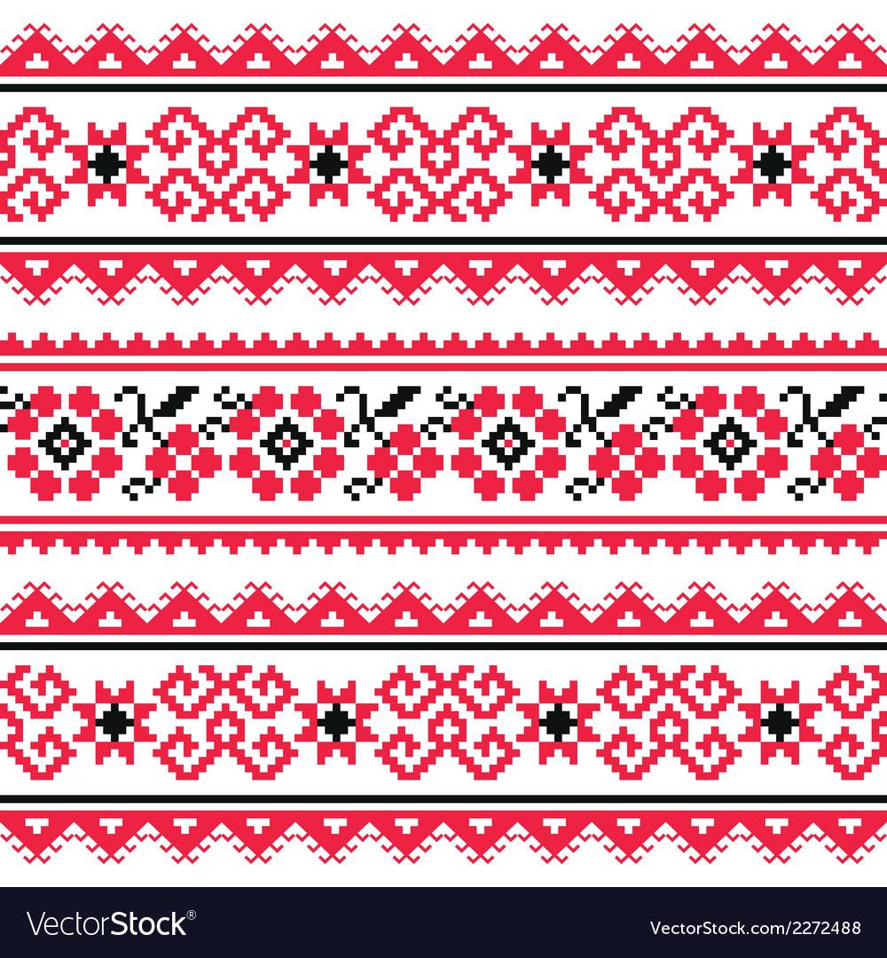 Ukrainian folk art embroidery pattern or print
