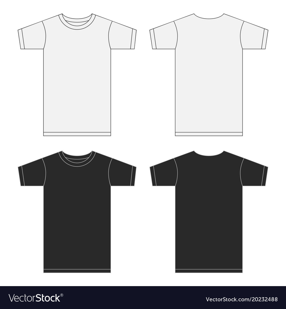 White and black t-shirt template collection eps10