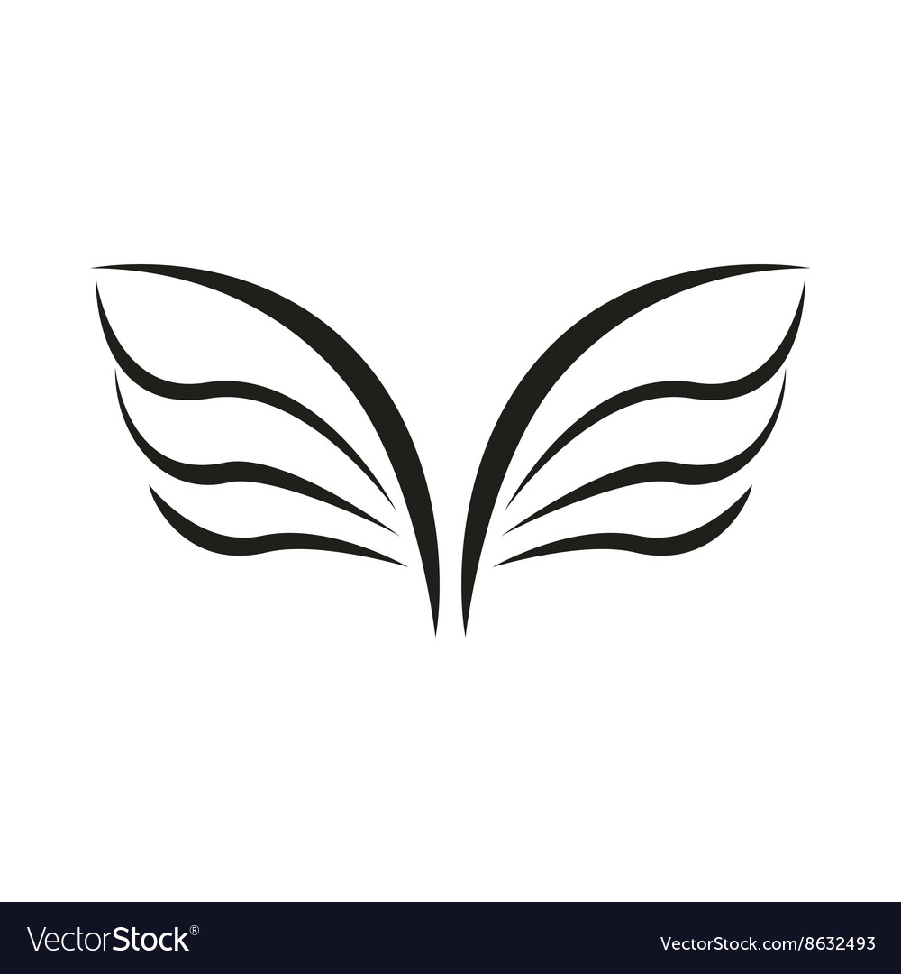 A pair of bird wings icon simple style