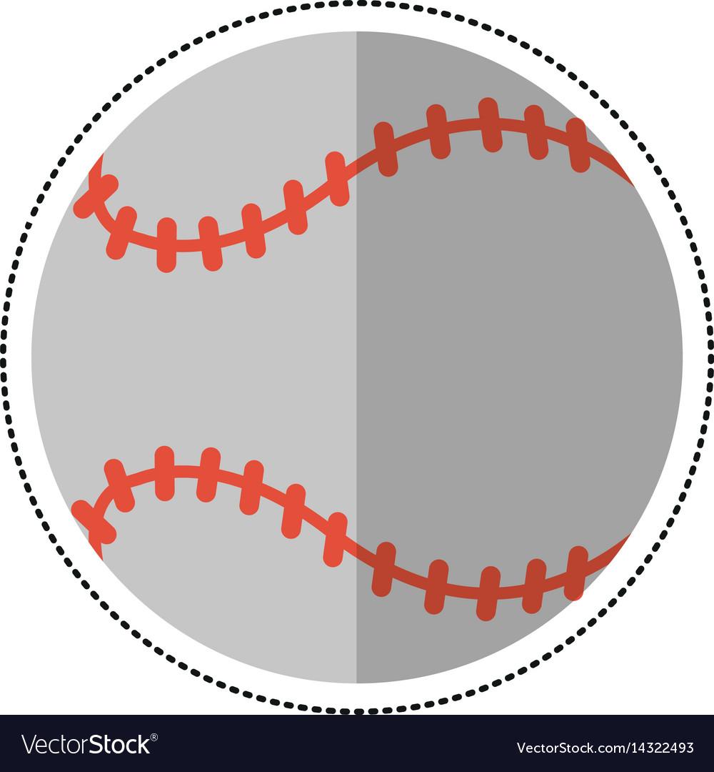 Cartoon baseball ball sport game