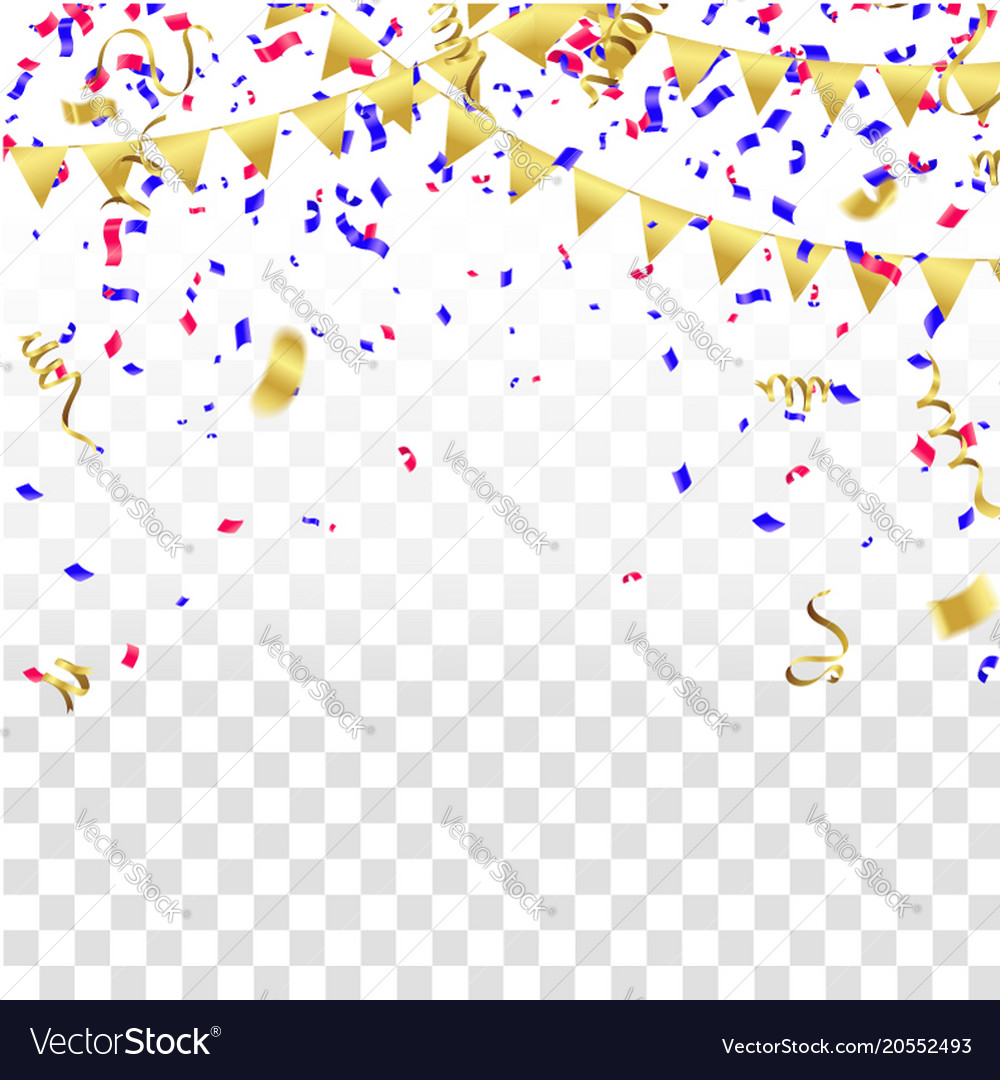 Celebration templates happy events celebration ppt backgrounds happy celebration background template with confetti and vector image celebration templates maxwellsz
