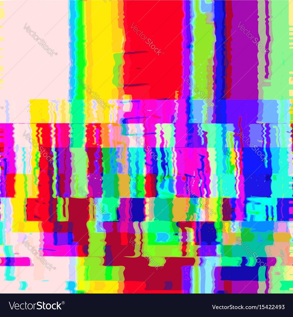 Colorful glitch warp background