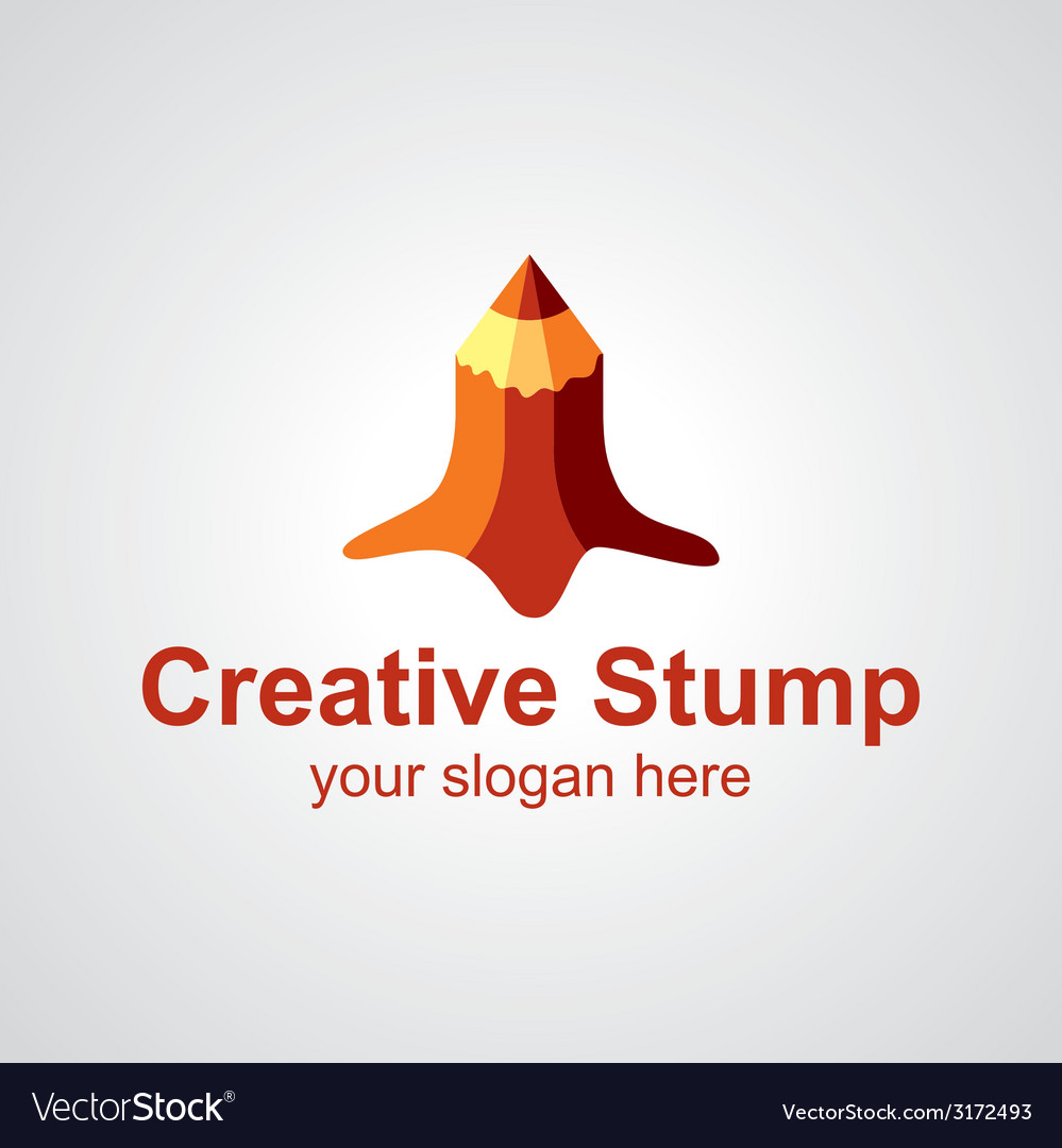 Creative stump logo vector image