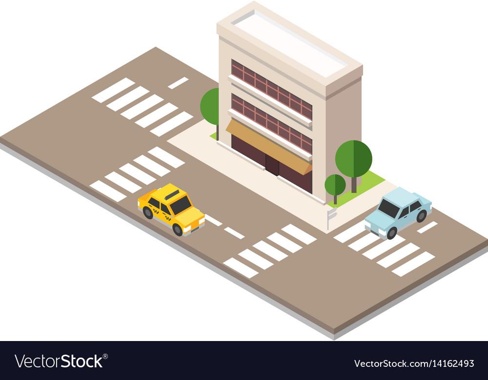 Flat 3d isometric urban city infographic concept