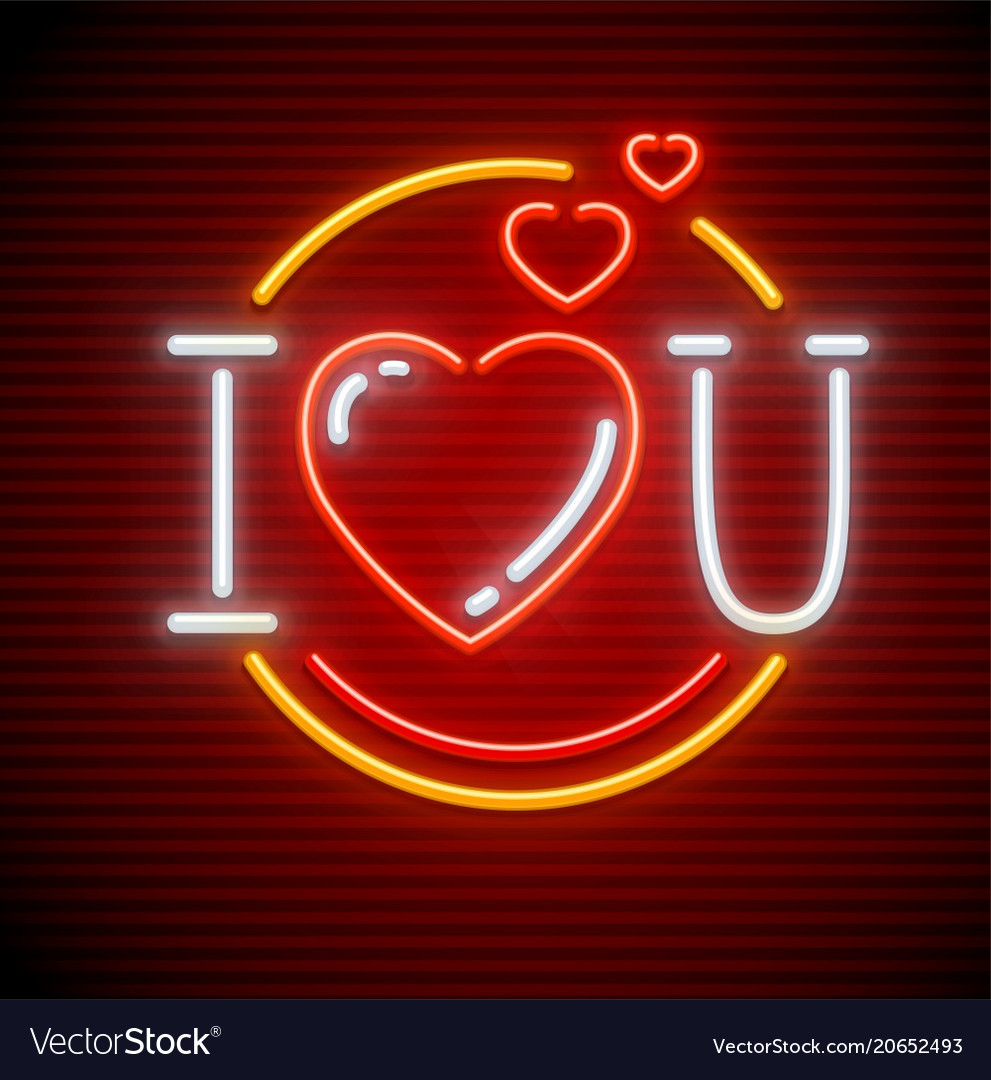 I love you message made vector image