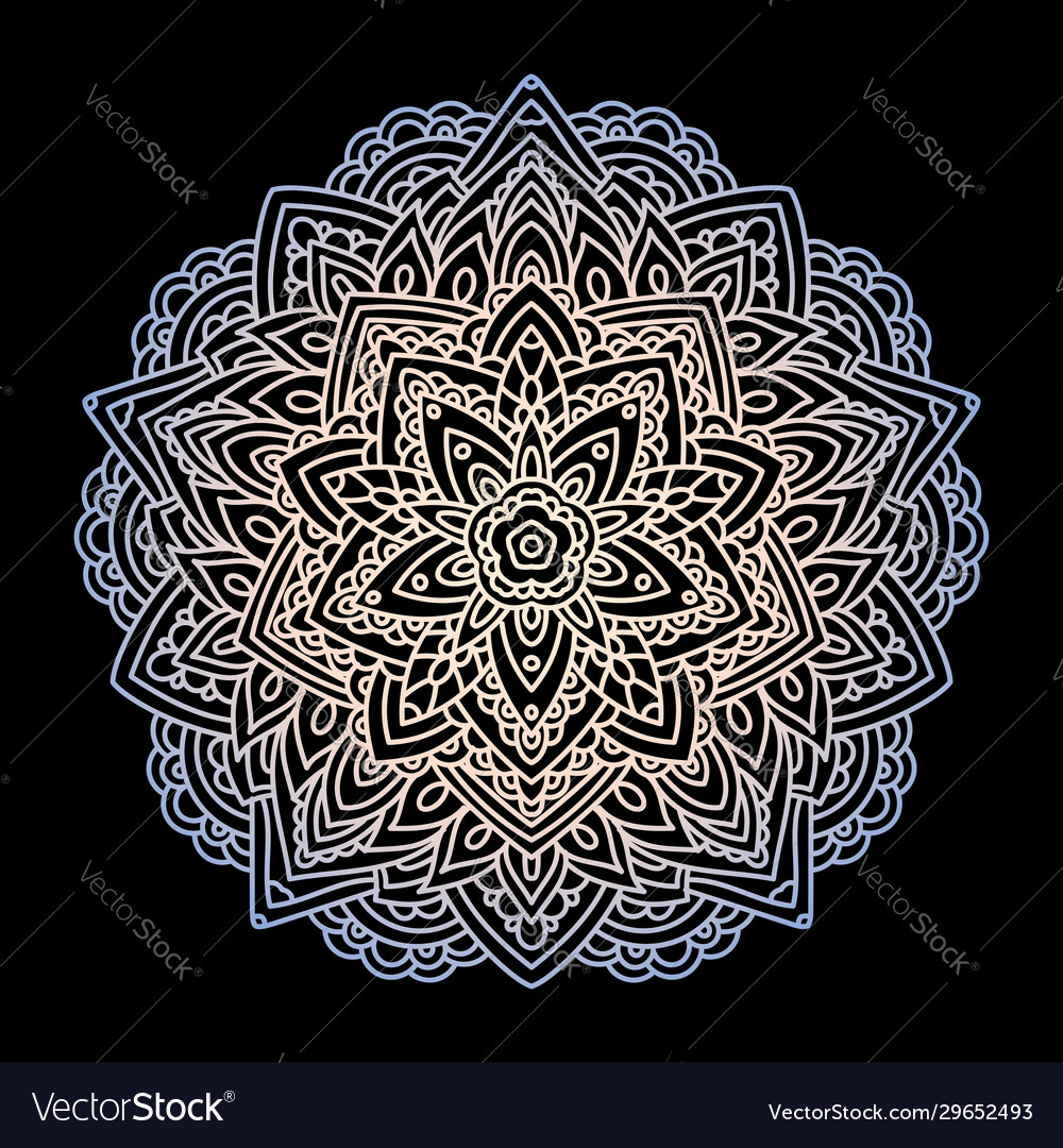 Mandala circular ornament on a