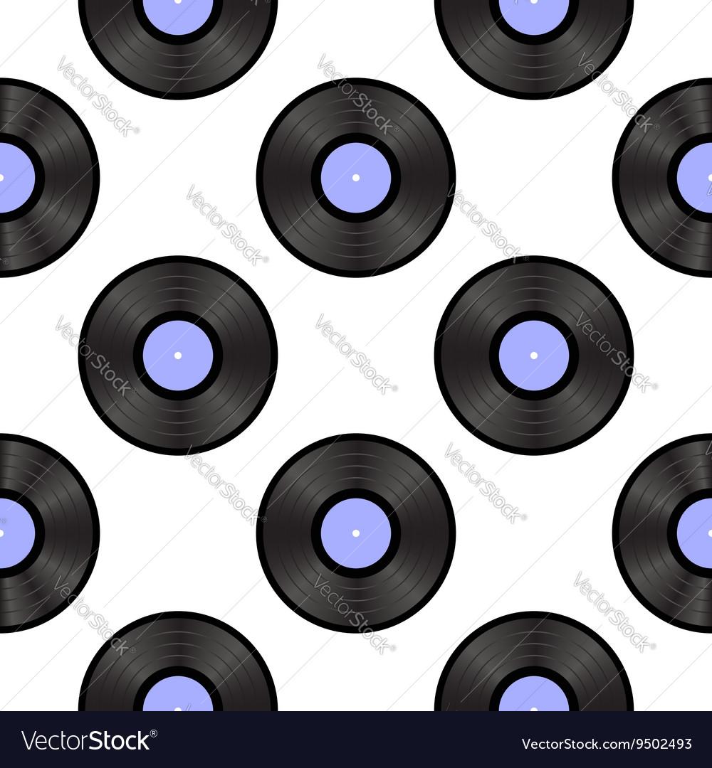 Retro Vynils Sound Disc Seamless Pattern