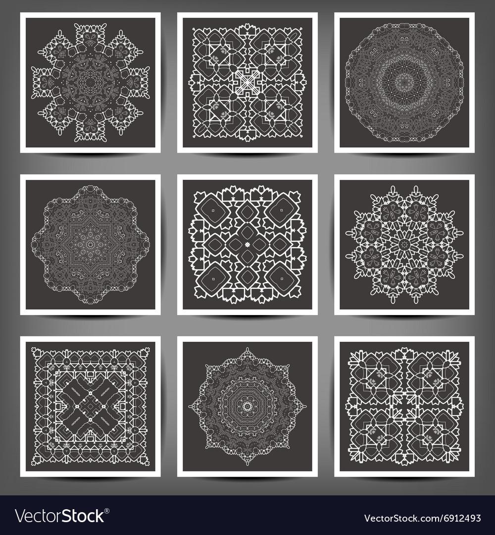 Set of elegant floral monogram design templates
