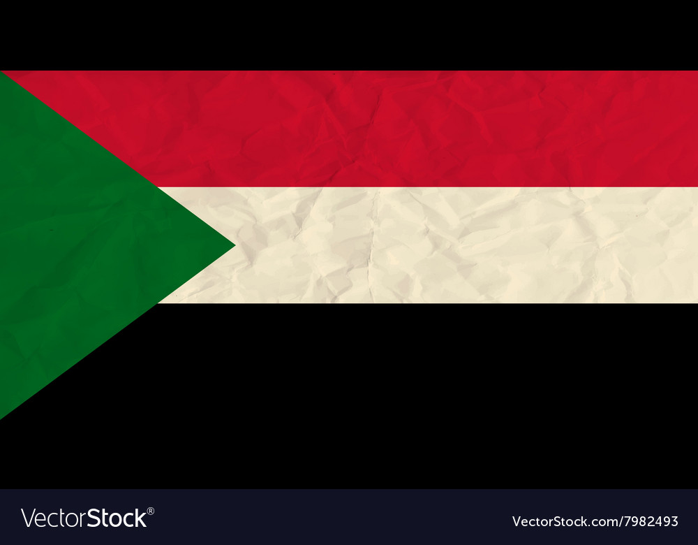 Sudan paper flag