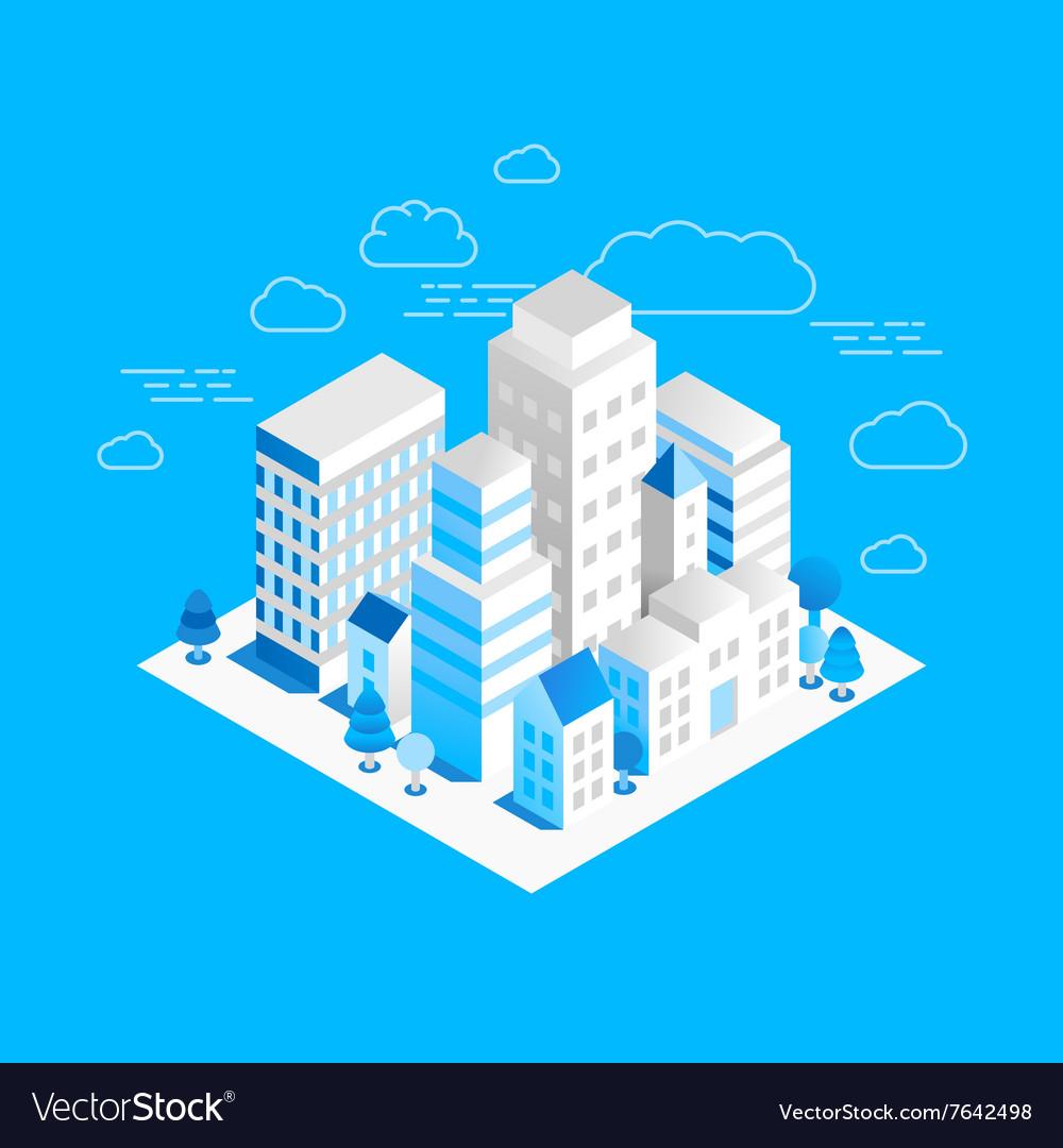 City landscape isometric
