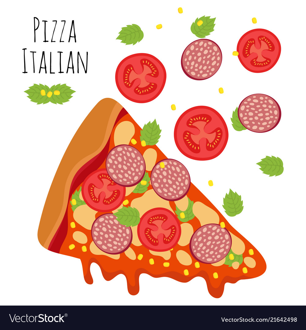 Italian pizza with sausage tomato cheese