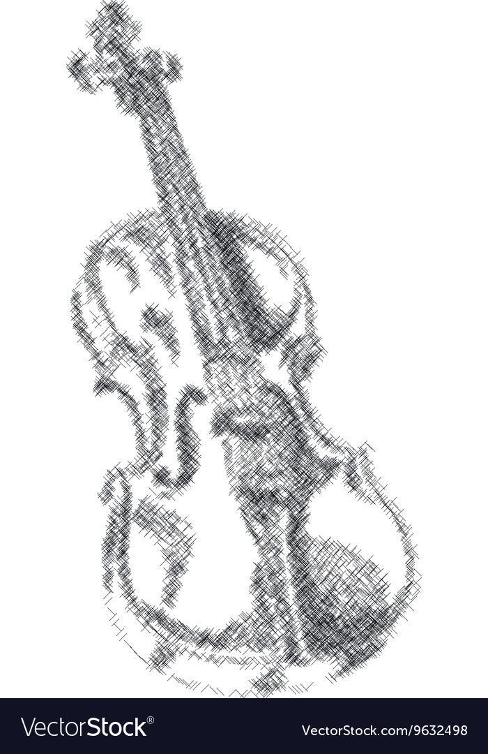 Musical instrument violin on white background