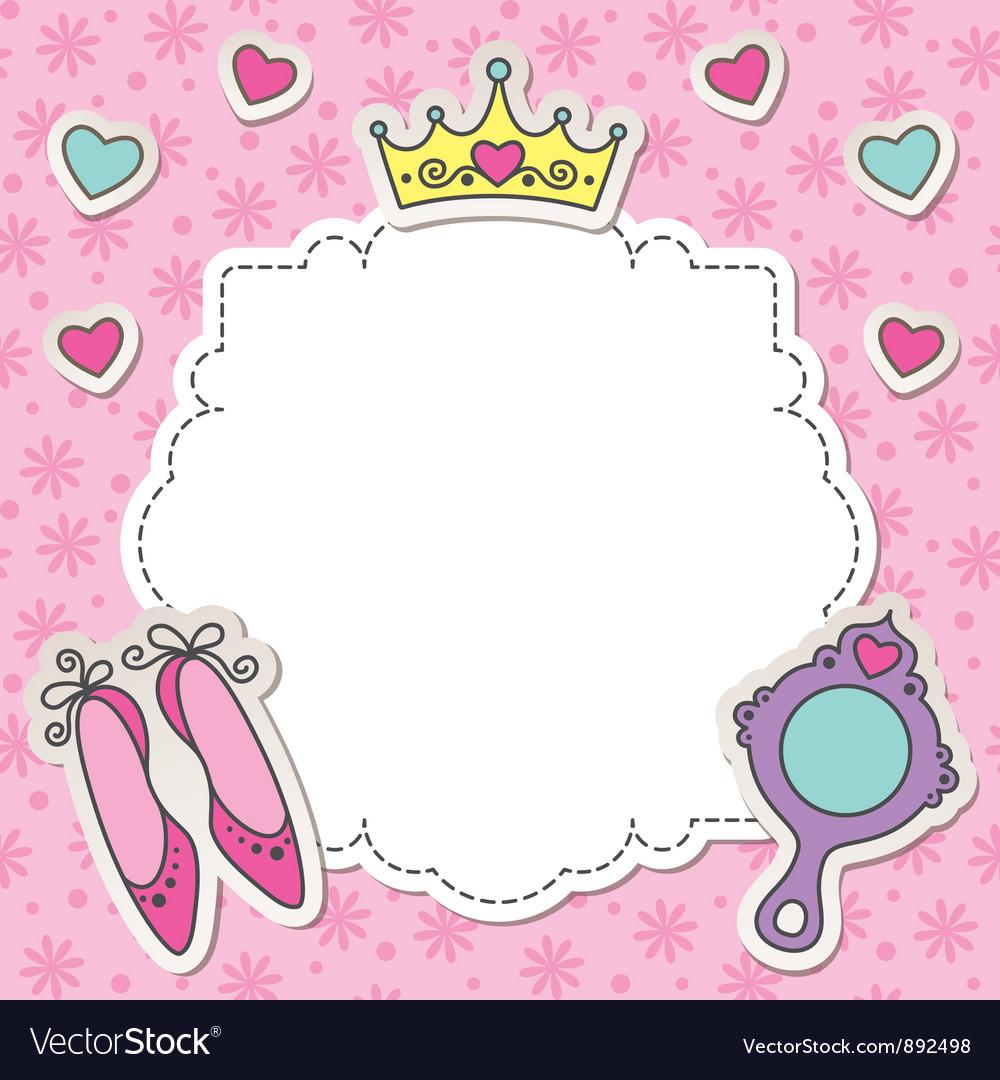 Princess frame Royalty Free Vector Image - VectorStock