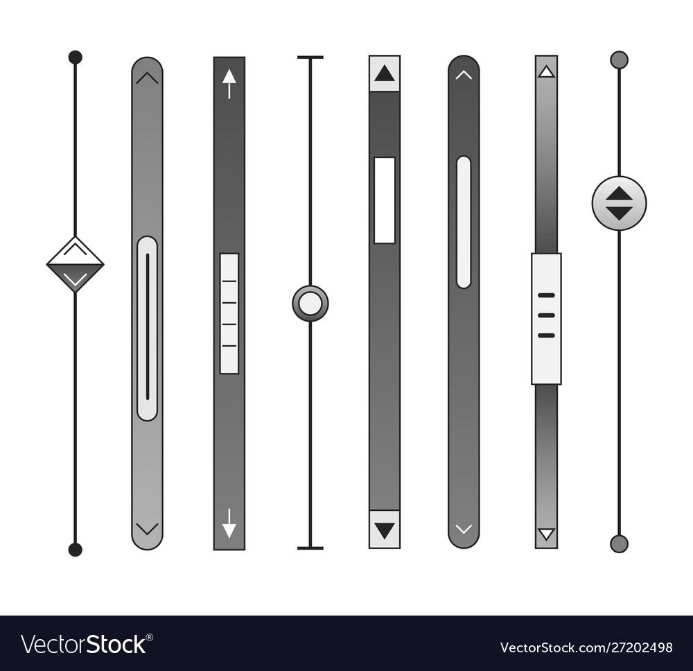 Scrollbars bar set