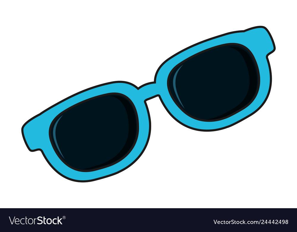 summer sunglasses cartoon royalty free vector image  vectorstock