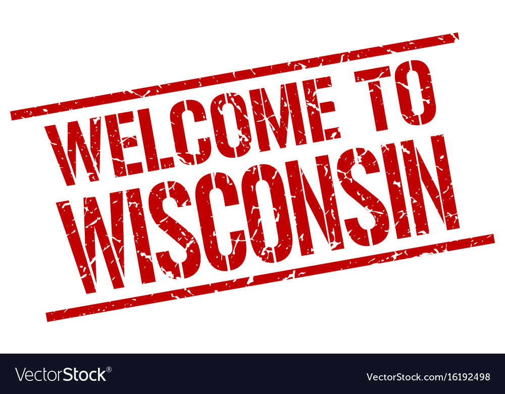 Welcome To Wisconsin Stamp Vector Image