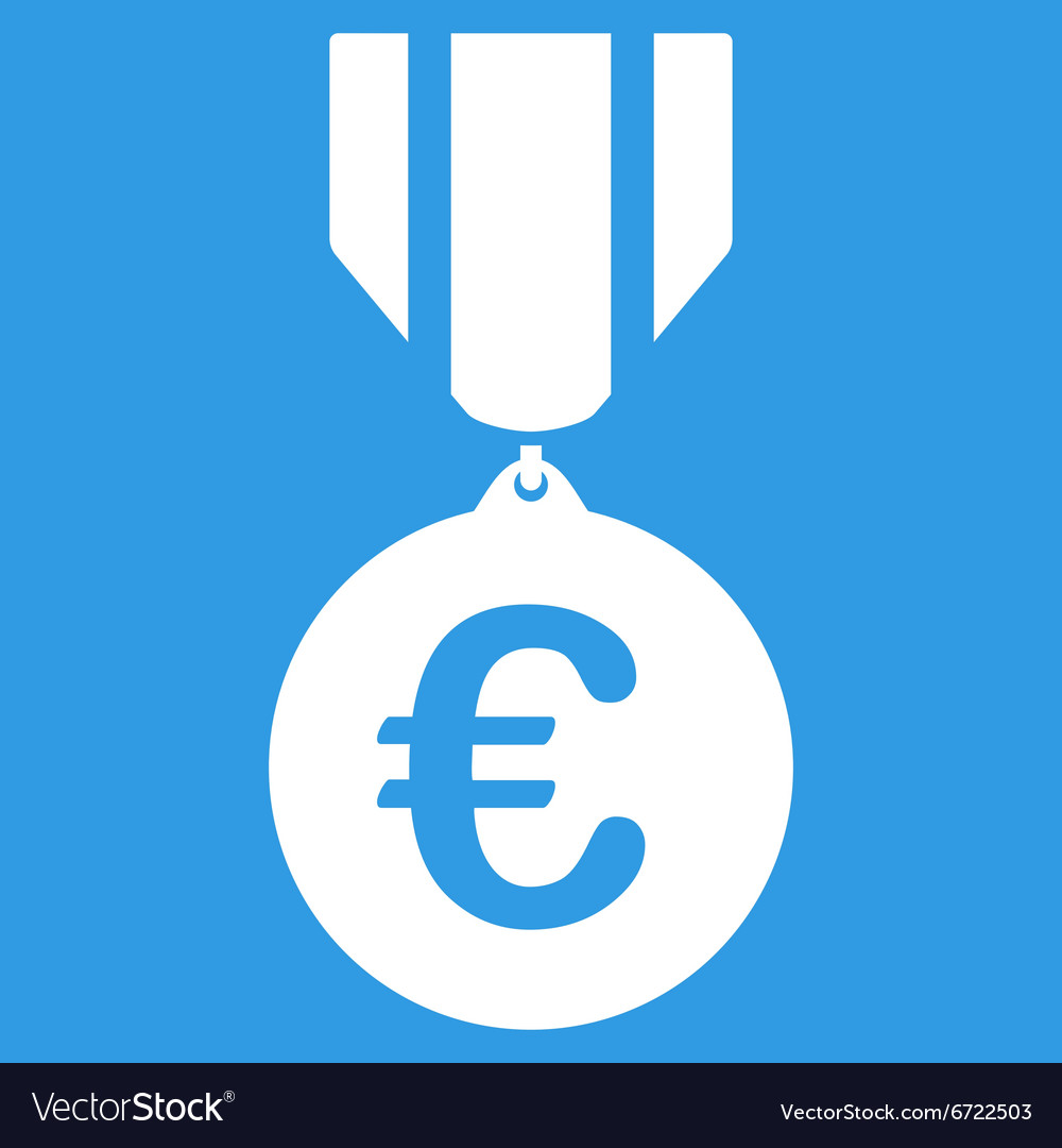 Euro Honor Medal Icon vector image