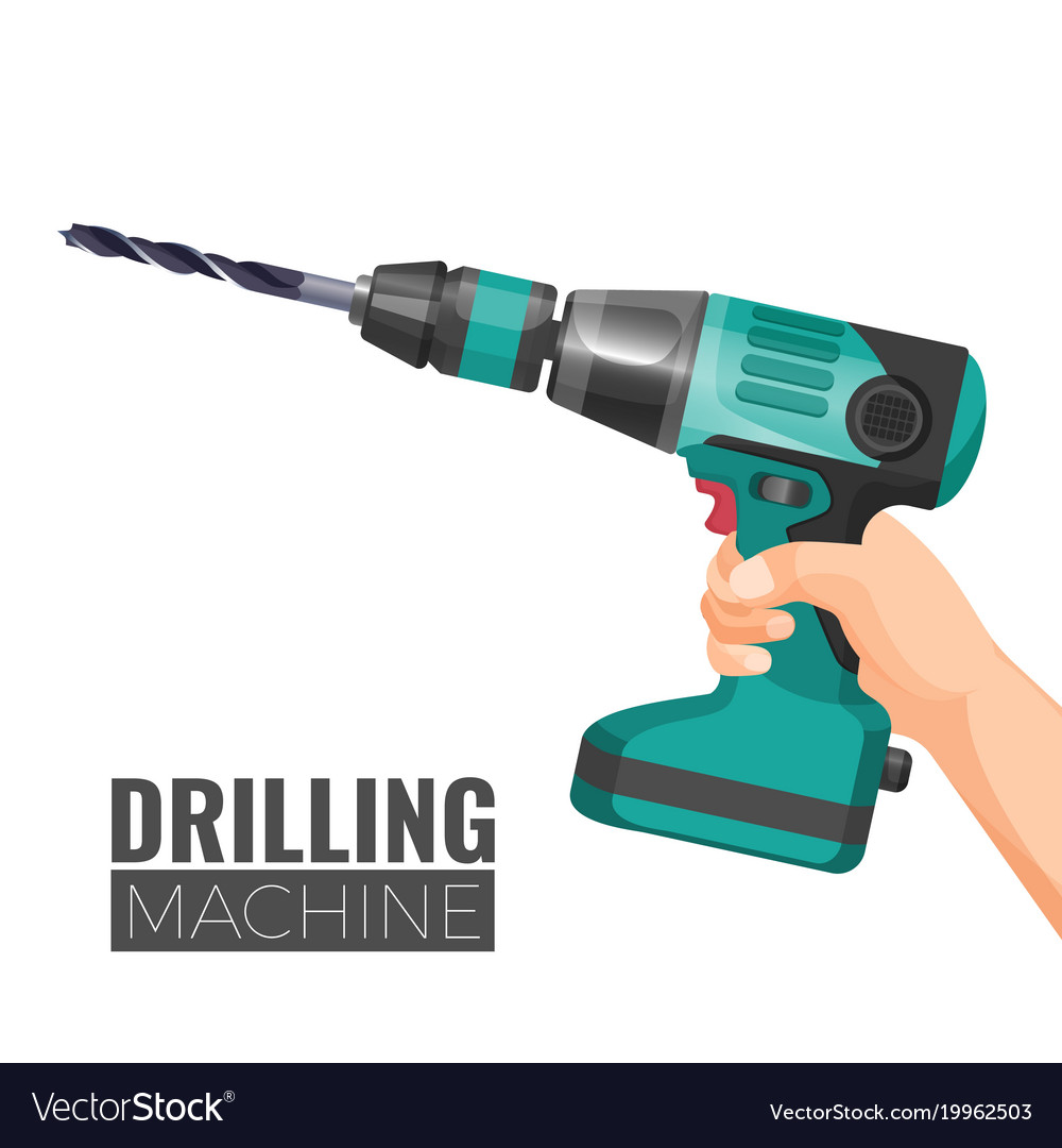 Hand drill or drilling machine fitted cutting or