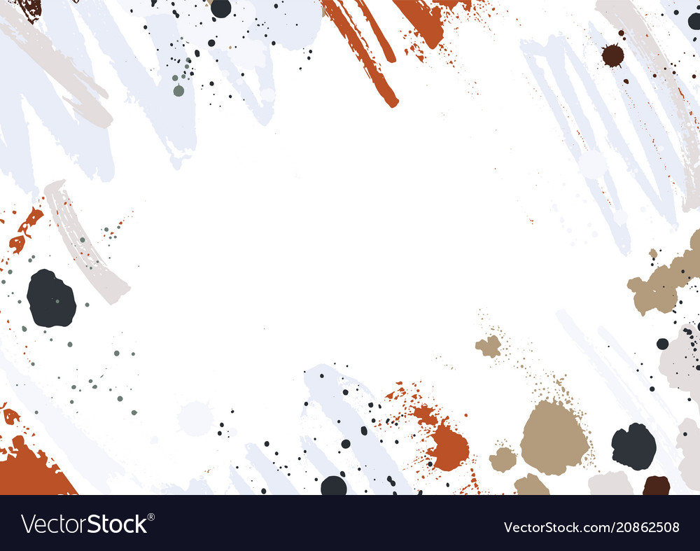 Abstract horizontal backdrop with colorful paint