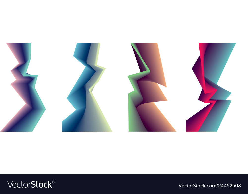 Abstract shape backgrounds set sharp cornered