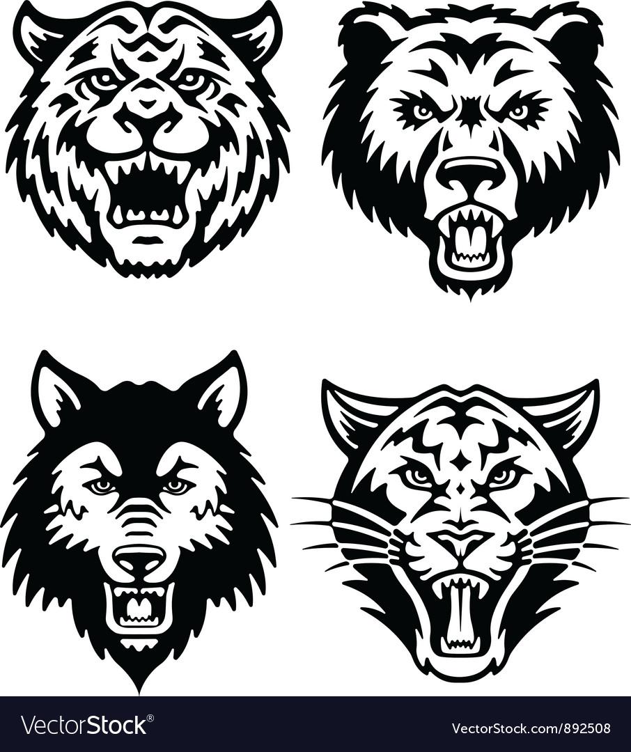 Animal mascot logo set