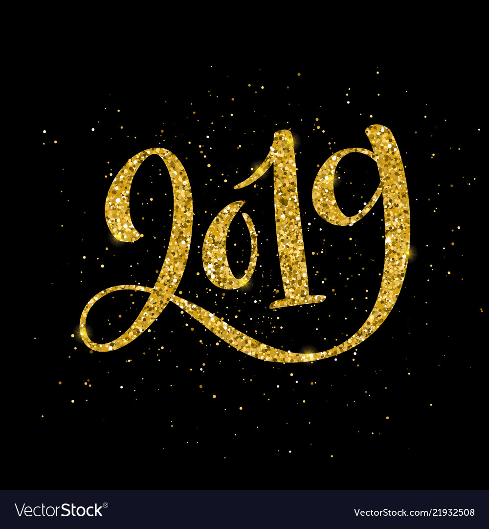 Happy new 2019 year greeting
