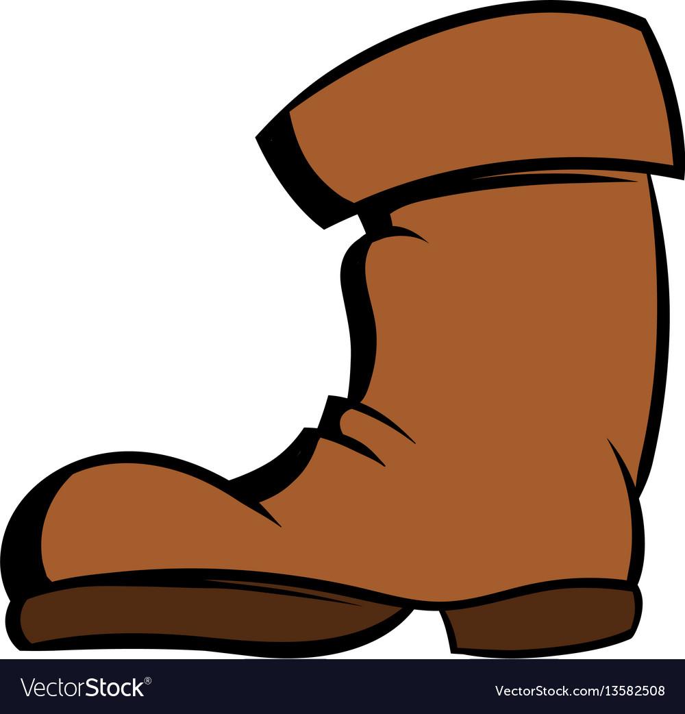 High boots icon cartoon